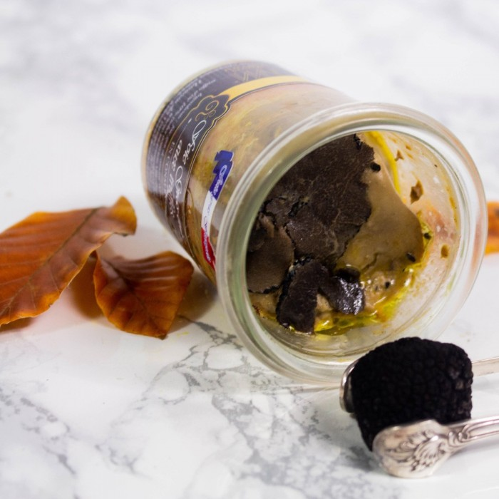 Foie gras de canard entier truffé à 10% Coffret apéritif