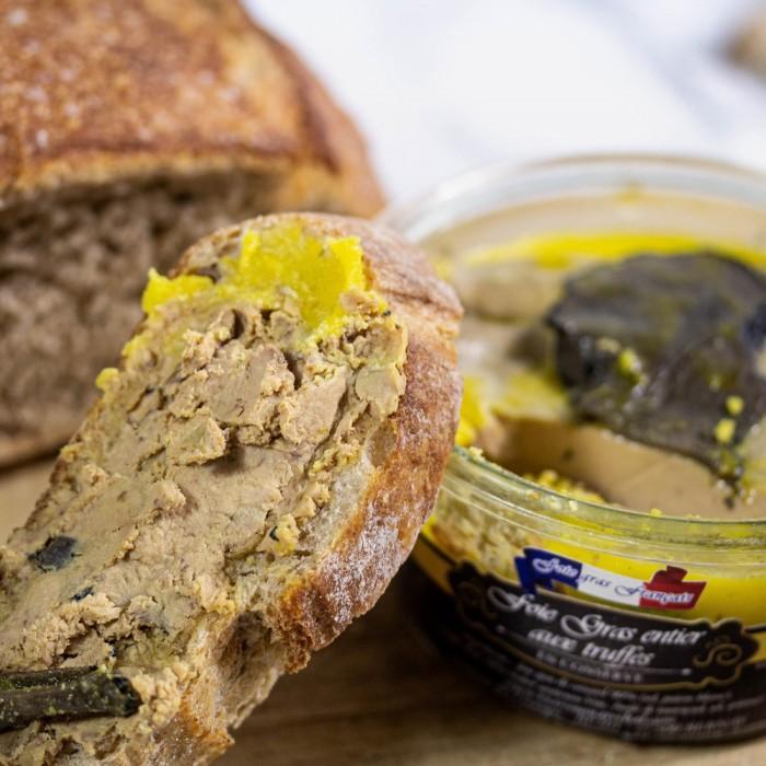 Foie gras entier truffé à 10% coffret terroir
