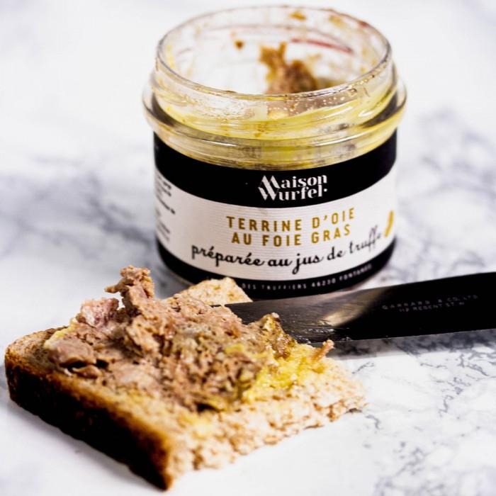 Terrine d'oie au foie gras préparée au jus de truffe cadeau d'entreprise