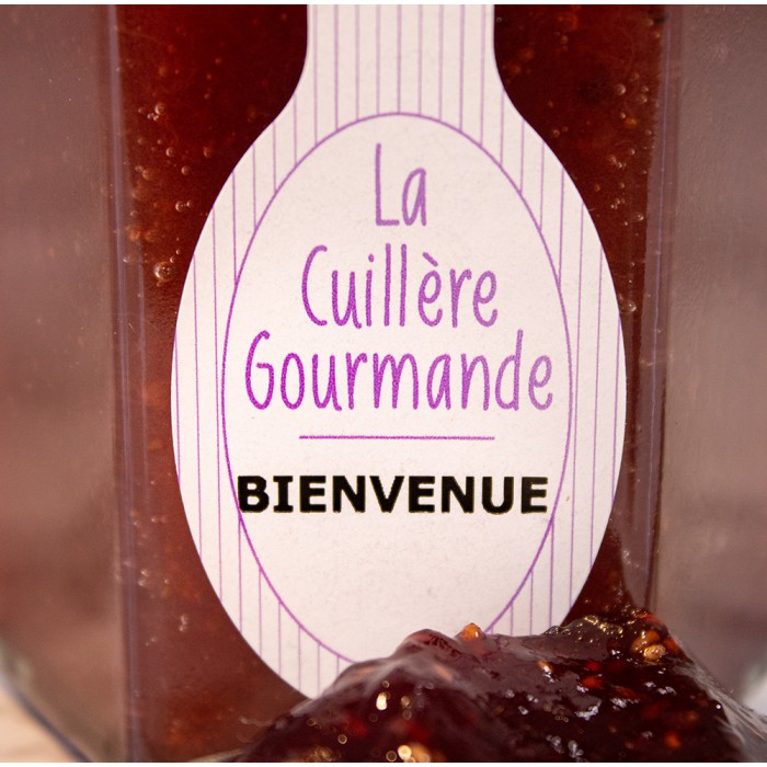 Confiture artisanale de fraise et sa note de coquelicot - 225g Cadeau personnalisé